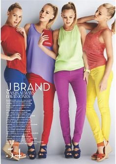 This spring colourful jeans sound fun!! JBrand makes it easy! 811 mid rise skinny in a rainbow of colors! :)