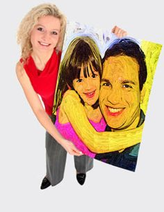 Gift for Dad. Kids grow up so fast. Order online painting from photo to canvas