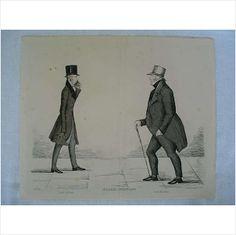 Modern Athenians - Prominent Edinburgh Gentlemen - 1847 Print - Sheet No 25