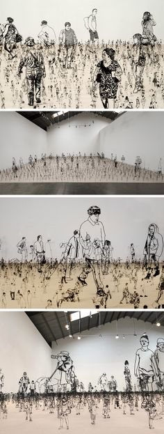 People I Saw But Never Met: Thousands of Miniature Metal Figurines by Zadok Ben-David
