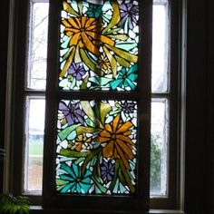 Golden Flowers Stained Glass custom made by Mosaics And More     -     Steph Howe