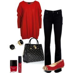 A fashion look from December 2012 featuring Citizens of Humanity jeans, GUESS flats and MICHAEL Michael Kors tote bags. Browse and shop related looks.
