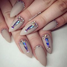 Most Popular and Trendy Nails Shapes for Glamorous Look ❤️ Luxury Stiletto Nails Ideas picture 3 ❤️ The importance of nails shapes is great since a wrongly picked one can ruin the whole manicure. But that does not mean that you cannot experiment! https://naildesignsjournal.com/popular-nails-shapes/ #nails #nailart #naildesign
