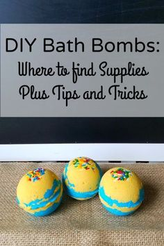 How to make DIY Bath Bombs Fizzies. Includes list of DIY bath bomb supplies. Plus  tips and tricks for making bath bombs. This would be a great DIY present for teens and tweens.
