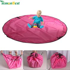 1.5M Portable Large Baby Kids Toy Storage Organizer Bag And Play Mat Travel Waterproof Nylon Toys Storage Bags Beam Pocket Mat