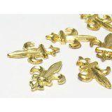 Schmuckzierteile Lilie 11x8mm (gold), 30 Stück Brooch, Gold, Jewelry, Lilies, Schmuck, Jewlery, Bijoux, Brooches, Jewerly
