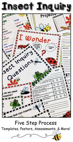 The Insect Inquiry Project package is a great way to support grade and home school students as they begin learning about the inquiry process or as a way to practice using inquiry based learning. Use this five step process during a unit in an Primary Teaching, Teaching Writing, Writing Activities, Science Activities, Science Writing, Writing Centers, Time Activities, Science Ideas, Winter Activities