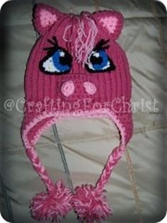 My Lil Poneys Hat pattern by Crafting ForChrist Designs ~ free pattern