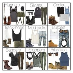 """The Maze Runner Glade Jobs... Cause boredom"" by elmoakepoke ❤ liked on Polyvore featuring BBon-J, Carhartt, ONLY, Timberland, Pierre Balmain, Topshop, New Look, AdTec, Crafted and Free People"