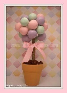 Cake Pop Centerpiece Tea Party Birthday, First Birthday Parties, First Birthdays, Cake Pop Centerpiece, Centerpieces, Sweet Cakes, Cute Cakes, Baby Cake Pops, Cookie Pops