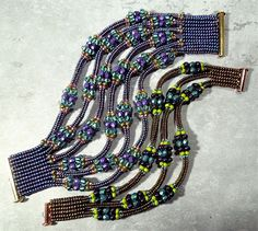 Graduated Branched Ndebele Bracelet, Nikia Angel - Bead&Button Show