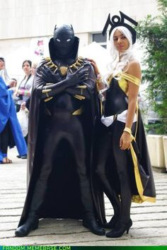 porkiepuss' Storm and Black Panther cosplay...nicely done!