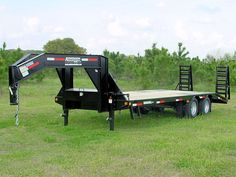 30 ft 10 ton ghoosneck deck-over equipment bobcat trailer workhorse series 5th Wheel Trailers, Best Trailers, Custom Trailers, Deck Over Trailer, Work Trailer, Utility Bed, Utility Truck, Truck Flatbeds, Pickup Trucks