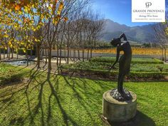 Sitting in the magnificent Franschhoek Valley in South Africa's Western Cape, her lush vines spread across with gentle vistas over the valley floor, with the rugged mountains beyond. This is heartland South African wine country at its very finest. South African Wine, Autumn Painting, Luxury Accommodation, Autumn Day, Wine Country, Provence, Acre, Lush, Vines