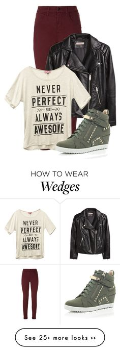 """Untitled #1201"" by andreastoessel on Polyvore featuring J Brand, H&M, Wet Seal and River Island"