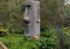 Handyman reader Richard Hanman had always wanted to construct an impressive statue in his backyard. Handyman Magazine, Volcanic Rock, Easter Island, Garden Sculpture, The Outsiders, Backyard, Statue, Projects, Sculptures
