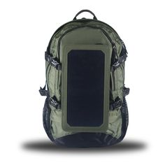 Sports Backpack, 7 Watts Solar Panel Bag, Nylon Materials, with 10000mAh Power Battery Pack Charge for Cell Phones and Other¡¯s 5V Device Green