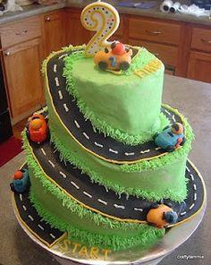 Very Cool Race Car cake.