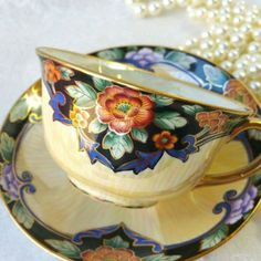 NORITAKE JAPAN Vintage Teacup and Saucer/ by HoneyandBumble: