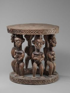 Stool |  Cameroon, Babanki Chiefdom |  Early to mid 20th Century | Carved wood