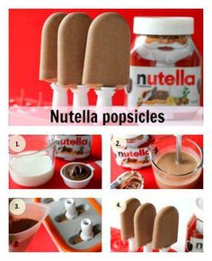 Gelados de Nutella