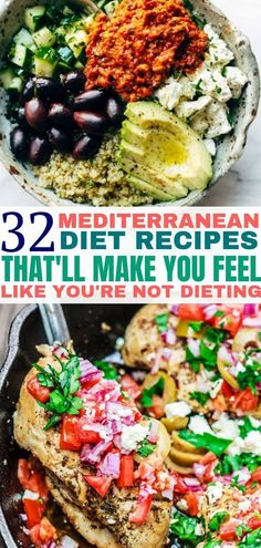Mediterranean recipes that are healthy and delicious. Add these Mediterranean diet recipes to your meal plan and start eating healthier. #recipes #healthyrecipes #healthyliving #veganrecipes