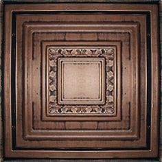 """D31 24"""" x 24"""" PVC Copper Black Ceiling Tiles by Euro-Deco Ceilings, Inc.. $8.99. Quick and Hassle-free installation. Wide variety of decorative colors and styles. They are manufactured from High Quality Polyvinyl Chloride Sheets. At 24""""x24"""" size, these tiles are perfectly made to go in any drop ceiling. just pop them in or glue or nail them to a regular ceiling (stucco, sheetrock, wood, etc..). It is dimensionally embossed to create three dimensions effect, and the great artwork..."""