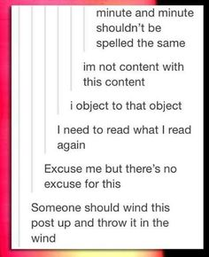 And this is why English sucks.