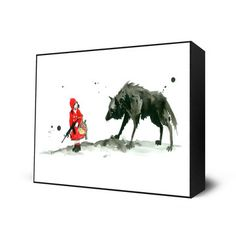 Red Riding Hood Mini Art Block, $28, now featured on Fab.