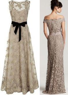 This would be a great mother-of-the-bride (or of the groom) dress! So stunning!  Madrinhas de casamento: Vestido de festa com renda