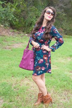 All That Glitters Blog- Navy and Purple Fall Outfit Inspirations