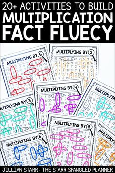 20 Fun Multiplication Centers to help your students memorize their multiplication facts and build fact fluency. A mix of worksheets, games, and hands on activities that are perfect for and grade math centers and stations! by janie Multiplication Activities, 4th Grade Multiplication, Math Manipulatives, Numeracy, Fourth Grade Math, 4th Grade Math Games, Math Intervention, Homeschool Math, Homeschooling