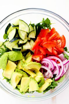 Avocado, Tomato and Cucumber Arugula Salad is fresh, delicious and ...