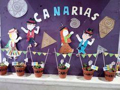 Se me va el baifo: Macetas decoradas para el Día de Canarias Ideas Para, Planter Pots, Canning, Food, Activities, Nature Decor, Decorated Flower Pots, One Day, Day Planners