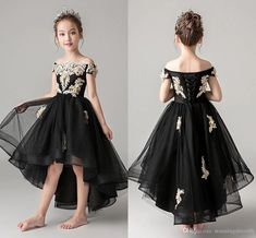 Sexy Black And Gold Embroidery Flower Girls Dresses For Wedding 2020 Off Shoulder Short Front Long Back Hi Lo Cheap First Communion Dress 2020 Vintage Luxury Princess Girl Dress Girls Pageant Dresses Toddler Infant Girls Kids Formal Prom Evening Dresses Online with $88.63/Piece on Stunningdress88's Store | DHgate.com Flower Girls, Flower Girl Dresses, Evening Dresses Online, Girls Pageant Dresses, Princess Girl, Infant Girls, Gold Embroidery, Communion Dresses, Formal Prom