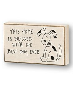 Take a look at this 'This Home' Box Sign by Collins on #zulily today!