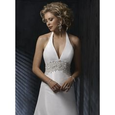 Satin Halter Wedding Dress