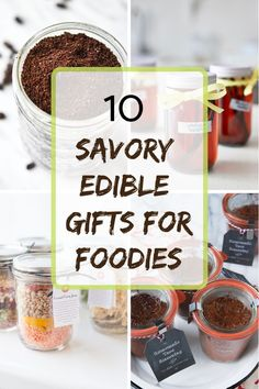 10 Savory Edible Gifts for Fellow Foodies - Meal Plan Addict Edible Christmas Gifts, Edible Gifts, Christmas Crafts, Homemade Christmas, Holiday Gifts, Christmas Ideas, Food Hampers, Food Gift Baskets, Gifts For Cooks