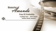 """This is """"Amanda college final by Capture Memories In Motion on Vimeo, the home for high quality videos and the people who love them. College Years, College Graduation, Memories, Memoirs, Souvenirs, Remember This, Graduation"""
