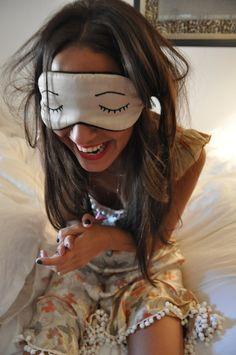we love this sleeping mask! [via Raminta]