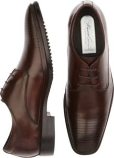 Kenneth Cole Set Your Clock Brown Lace Ups - Dress Shoes | Men's Wearhouse