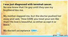 I was just diagnosed with terminal cancer.