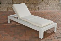 Sonnenliege, Relaxliege, Gartenliege Casoria #55C ~ creme