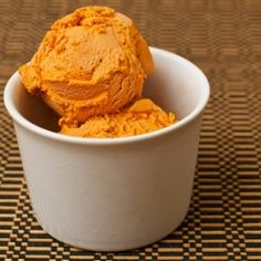 Thai Tea Ice Cream for dessert!