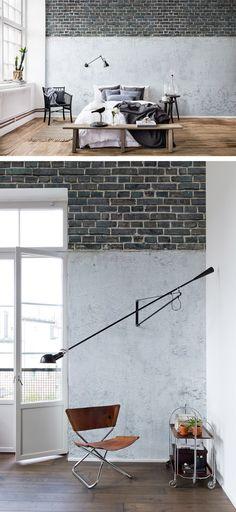 Soft Bricks, Pink Fototapeten mit Oberflächen-Optik Pinterest - moderne tapeten fr schlafzimmer