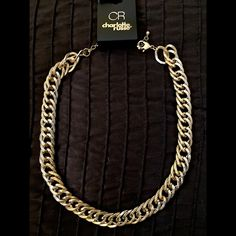 Selling this Edgy thick gold chain link necklace in my Poshmark closet! My username is: jadeline. #shopmycloset #poshmark #fashion #shopping #style #forsale #Charlotte Russe #Accessories