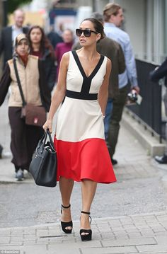 Myleene klass white dress