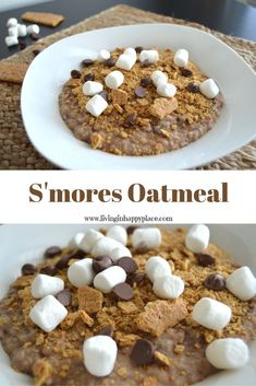 Looking for an easy breakfast idea? Try this S'mores Oatmeal recipe! Eat a healthier breakfast with this easy oatmeal even the kids will love. This breakfast recipe uses just a few ingredients and is even more delicious than it looks! Healthy Breakfast For Kids, Healthy Meals For Kids, Kids Meals, Breakfast Recipes, Easy Meals, Breakfast Ideas, Healthy Food, Healthy Recipes, Healthy Lunches