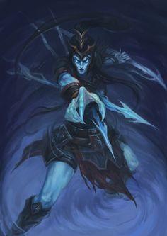 Fan art for League of Legends Kalista League Of Legends, Liga Legend, Fantasy Art, Batman, Fan Art, Superhero, Artwork, Fictional Characters, Videogames