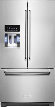 KitchenAid® 26.8 Cu. Ft. Stainless Steel with PrintShield™ Finish French Door Refrigerator-KRFF507HPS